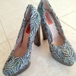 New Womens' Missoni Multicolor Platform Heels